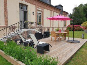 Location Honfleur Studio Le Petit Bois Terrasse